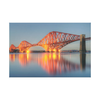 Forth Bridge Sunset Canvas Print