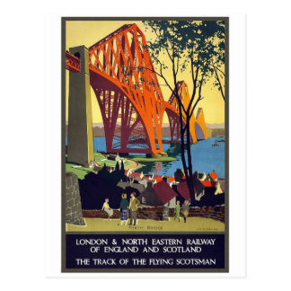 Forth Bridge - Vintage Travel Poster Art Postcard