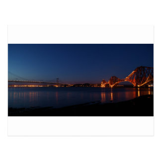 Forth Bridges at Night Postcard
