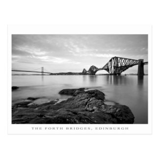 Forth Bridges Poster Postcard