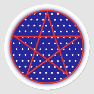 Forth of July Pentagram Stickers