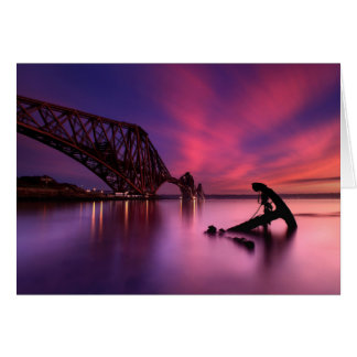 Forth Rail Bridge At Sunset | Scotland Card