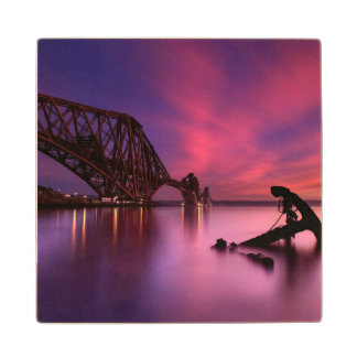 Forth Rail Bridge At Sunset | Scotland Wood Coaster