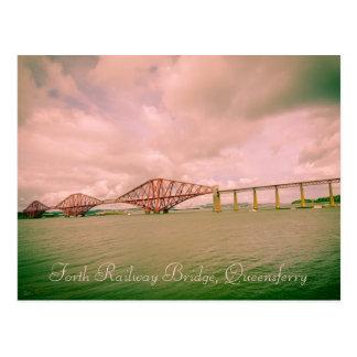 Forth railway bridge near Edinburgh, postcard