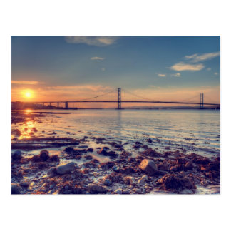 Forth Road Bridge Sunset Postcard