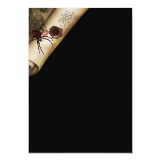 Fortieth murder mystery birthday 13 cm x 18 cm invitation card
