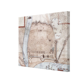 Fortified Encampment, Puerto Rico Gallery Wrap Canvas