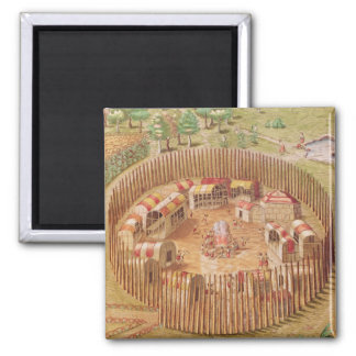 Fortified Indian Village, from 'Brevis Square Magnet