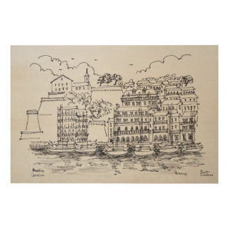 Fortified Port of Bastia, Corsica, France Wood Print