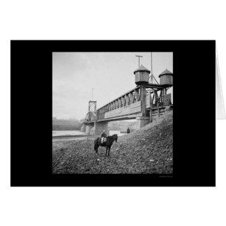 Fortified Railroad Bridge at Nashville, TN 1864 Card