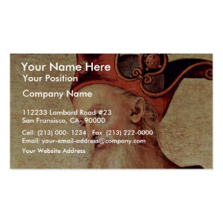 Fortitude And Temperance With Ancient Heroes Business Card Templates