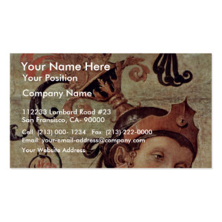 Fortitude And Temperance With Ancient Heroes Det Business Card Templates