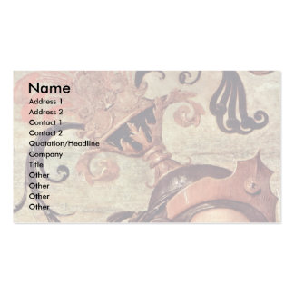 Fortitude And Temperance With Ancient Heroes Det Business Card Template