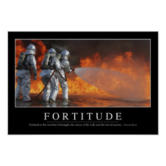 Fortitude: Inspirational Quote Poster