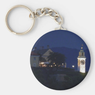 fortress clocktower basic round button key ring