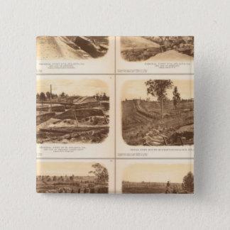 Forts, batteries, Atlanta, Ga 15 Cm Square Badge