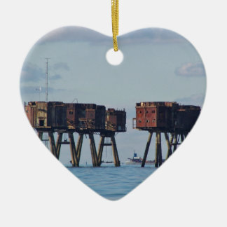 Forts In The Thames Estuary Ceramic Heart Decoration