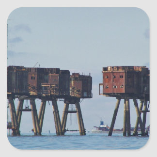 Forts In The Thames Estuary Square Stickers