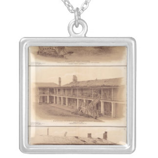 Forts Sumter & Moultrie Silver Plated Necklace