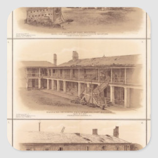 Forts Sumter & Moultrie Square Sticker