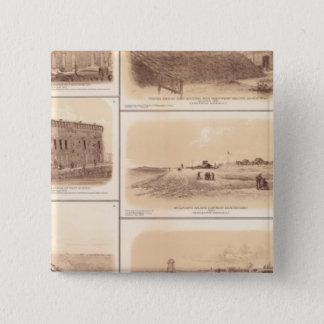 Forts Sumter & Moultrie, Sullivan's Island 15 Cm Square Badge