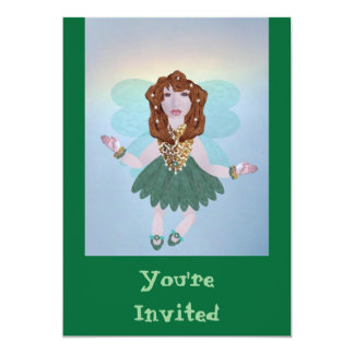 "Fortuna Fairy, 5"" X 7"" Invitation Card"