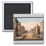 Fortuna Street, Pompeii, Italy vintage Photochrom