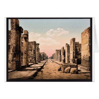 Fortuna Street, Pompeii, Italy vintage Photochrom Greeting Card