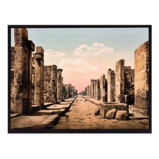 Fortuna Street, Pompeii, Italy vintage Photochrom Postcard