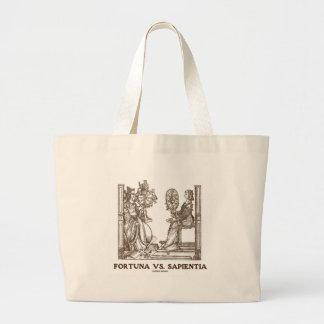 Fortuna vs Sapientia (16th Century Wood Engraving) Bags