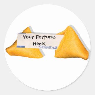 FortunAte Life Round Sticker
