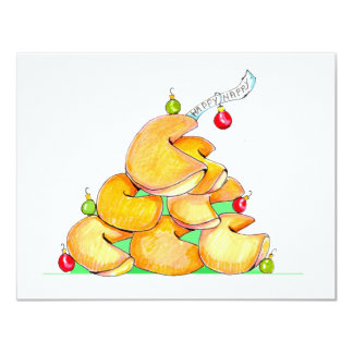 Fortune Cookie Christmas Tree cards 11 Cm X 14 Cm Invitation Card