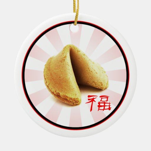 Fortune Cookie 'Luck' Ornament