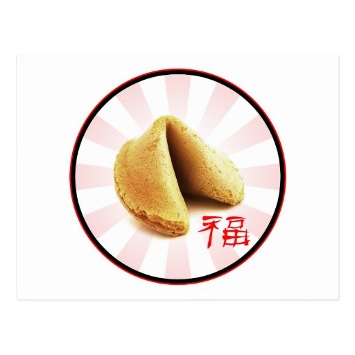 Fortune Cookie 'Luck' Postcard