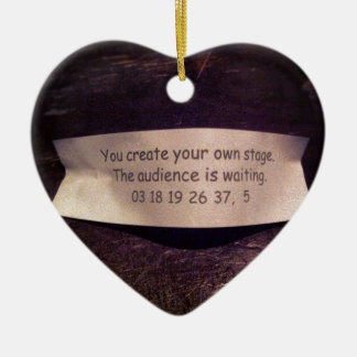 Fortune Cookie Quote Christmas Ornament