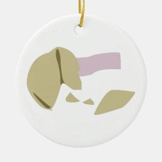 Fortune Cookie Round Ceramic Decoration