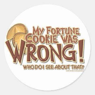 Fortune Cookie Round Sticker