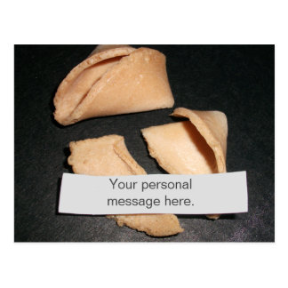 Fortune Cookie with Personalized Fortune Postcard