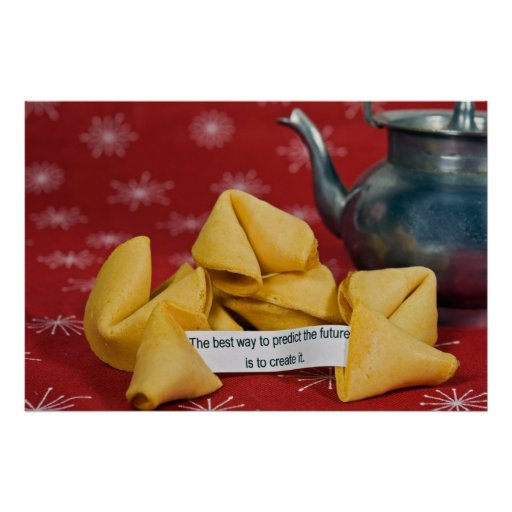 fortune cookie with wise words poster