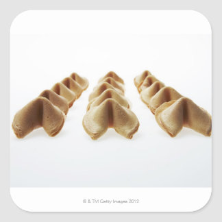 Fortune Cookies in three rows Square Sticker