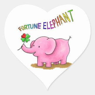 Fortune Elephant Heart Sticker