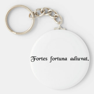 Fortune favors the bold. basic round button key ring