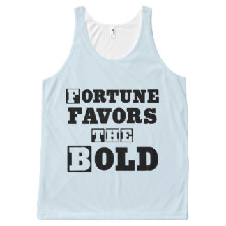 """""""Fortune Favors the Bold"""" Unisex Tanktop All-Over Print Tank Top"""