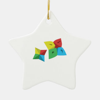 Fortune Game Ceramic Star Ornament