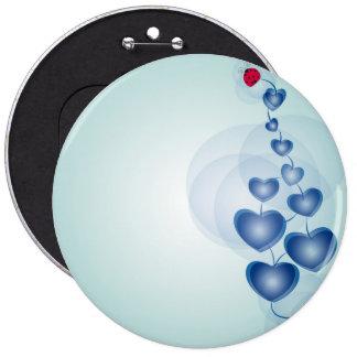 fortune in love 6 cm round badge