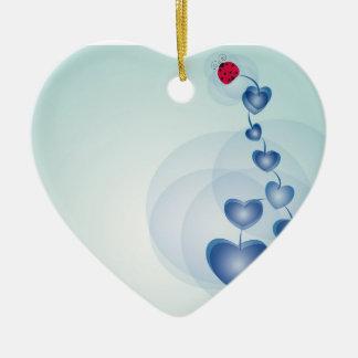 fortune in love ceramic heart decoration