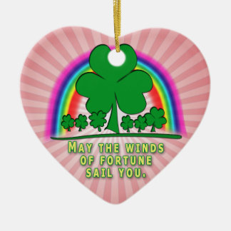 FORTUNE - IRISH BLESSING CHRISTMAS TREE ORNAMENTS