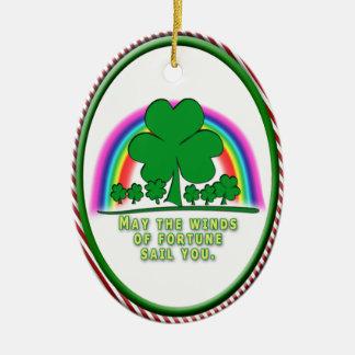 FORTUNE - IRISH BLESSING CHRISTMAS TREE ORNAMENTS