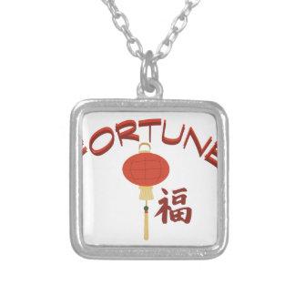 Fortune Square Pendant Necklace