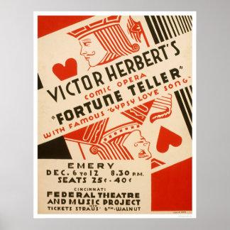 Fortune Teller Opera 1937 WPA Print
